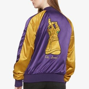 Her Universe MARVEL THANOS OH SNAP! Bomber Jacket
